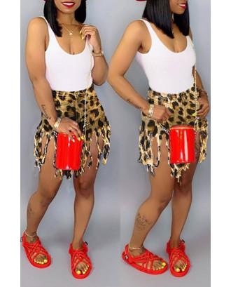 Lovely Casual Tassel Design Shorts