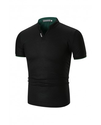 Lovely Casual Black Polo Shirt