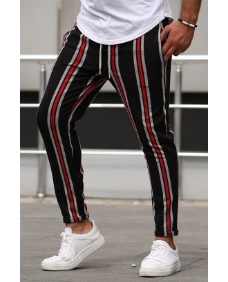 Lovely Street Striped Red Pants
