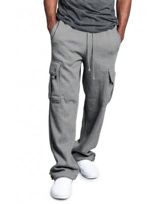 Lovely Casual Pocket Dark Grey Pants