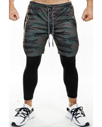 Lovely Sportswear Patchwork Camouflage Printed Pants