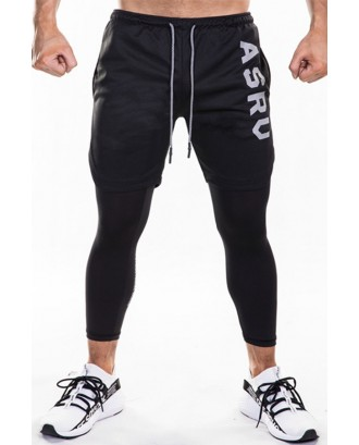 Lovely Sportswear Patchwork Black Pants