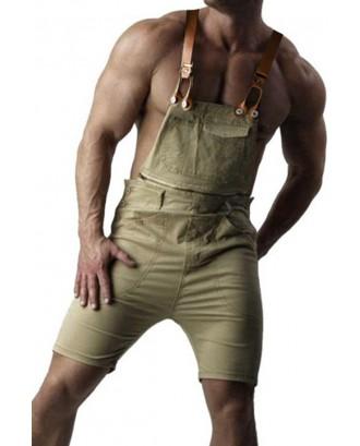 Lovely Casual Zipper Design Khaki Shorts