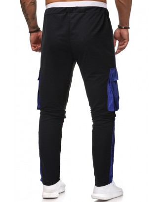 Lovely Casual Drawstring Design Black Pants