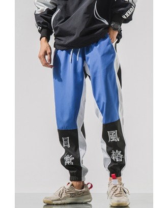 Lovely Trendy Patchwork Blue Pants
