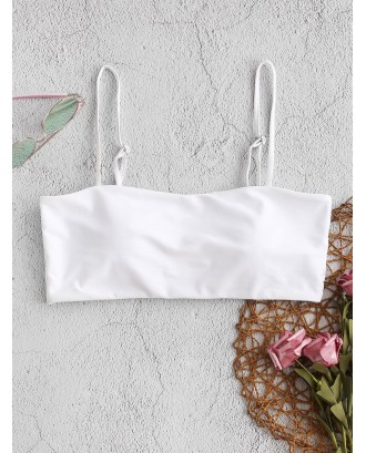 Boning Side Padded Cami Bikini Top - White S