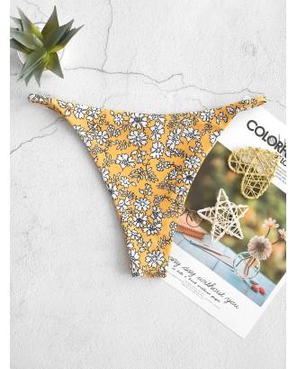 Ditsy Print String Swimwear Bottom - Multi S